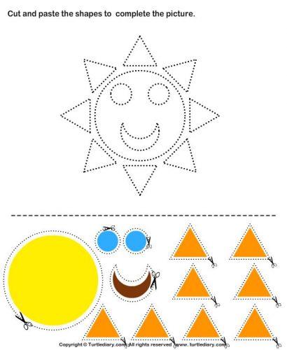 аппликация солнышко для детей