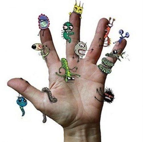 картинки микробы на руках