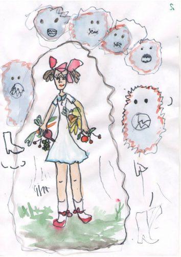 рисунки микробов для детей