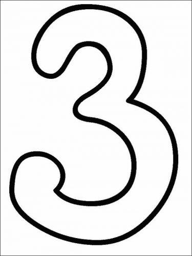 цифра 3 раскраска