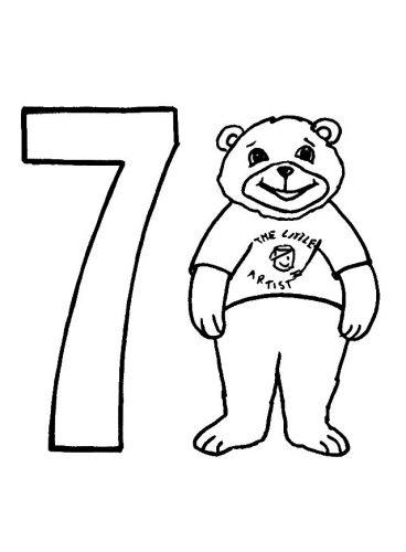 цифра 7 раскраска