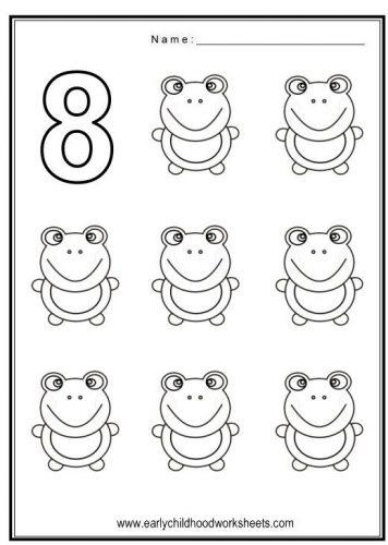 цифра 8 раскраска