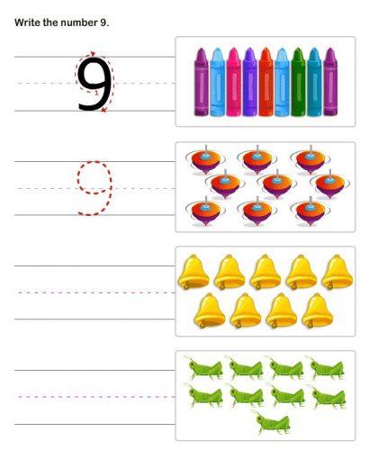 задания с цифрой 9 для детей