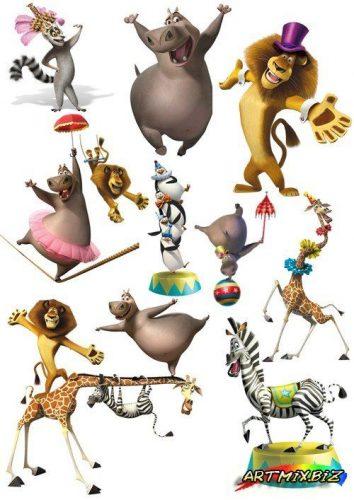 картинки мультяшных животных