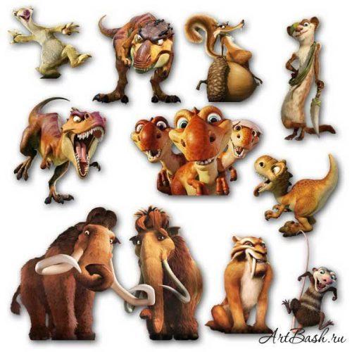мультяшные картинки животных для детей