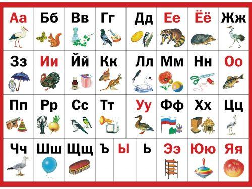 учим русский алфавит