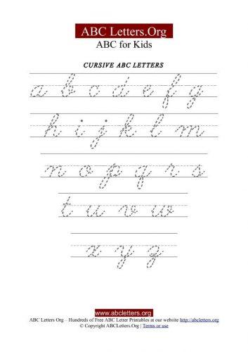 пропись с английскими буквами