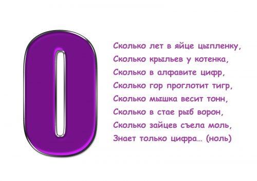 загадки про цифру 0 картинки