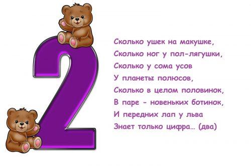 загадки про цифру 2 в картинках