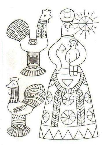 филимоновская игрушка раскраска