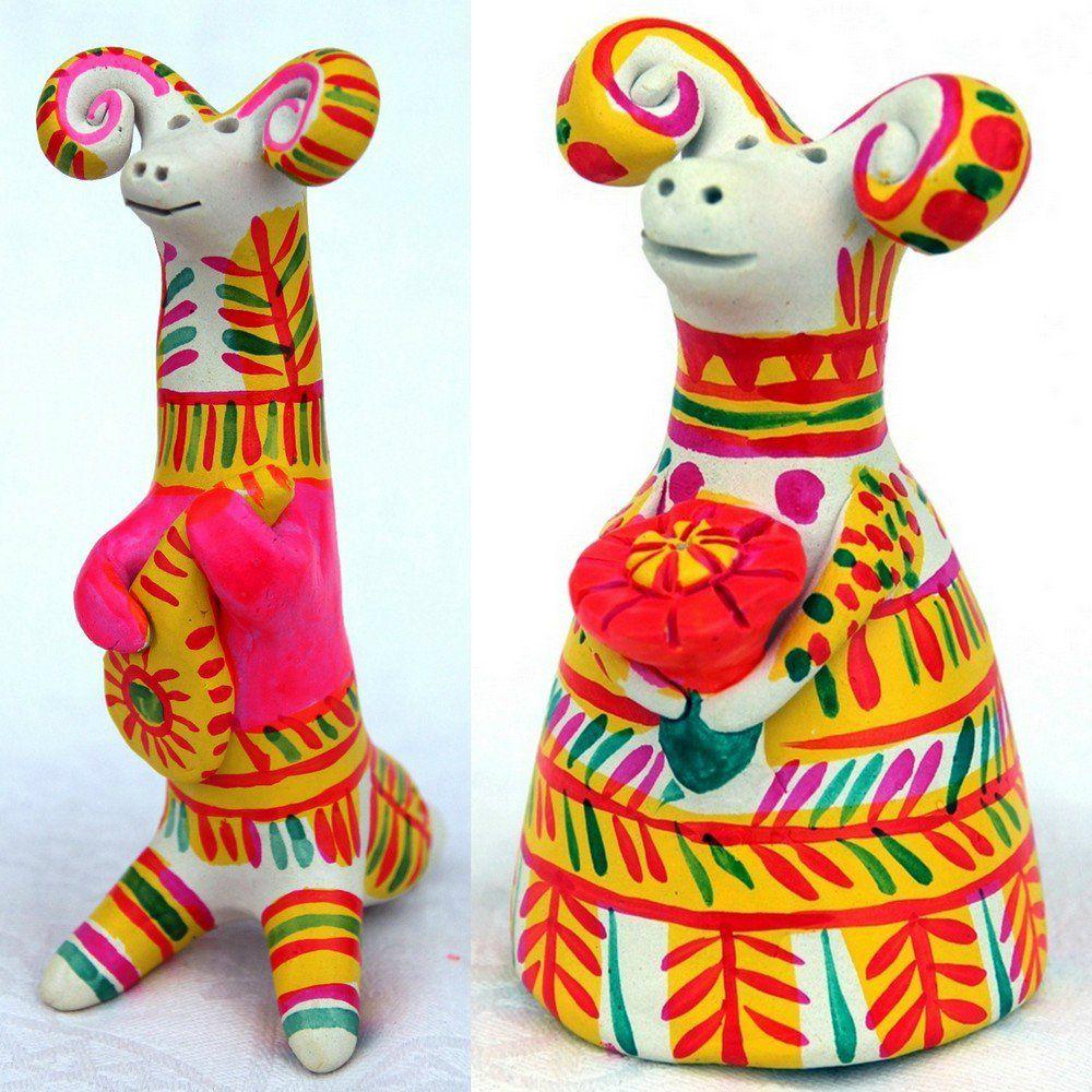 Роспись игрушка глиняная игрушка