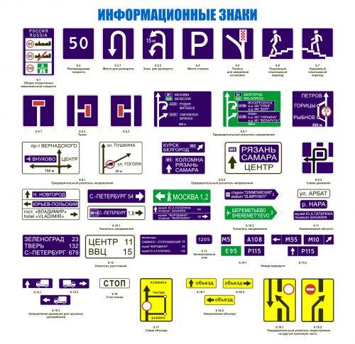 информационные знаки дорожного движения картинки