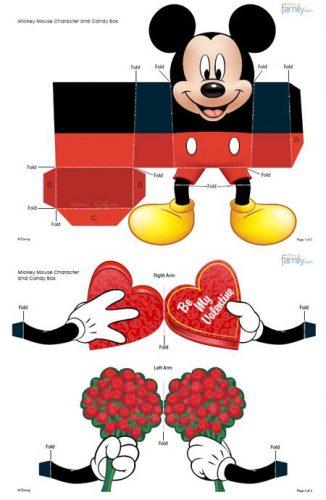 кукла для вырезания Микки Маус