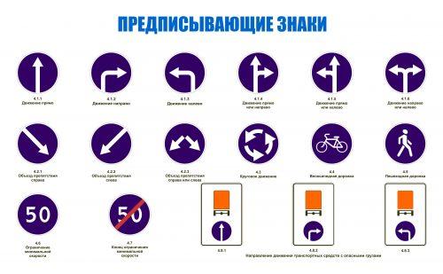 предписывающие знаки дорожного движения картинки