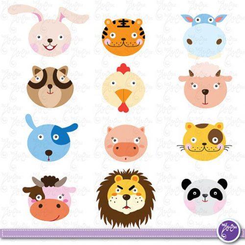 Мордочки различных животных в картинках.