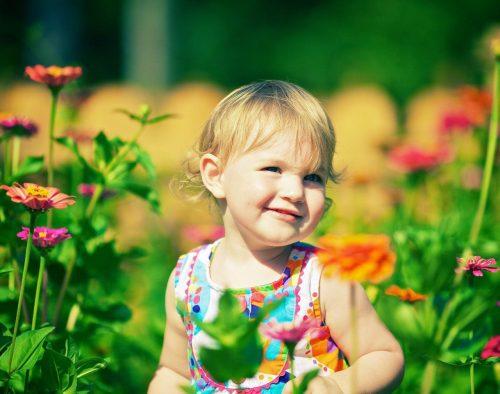 цветы и дети