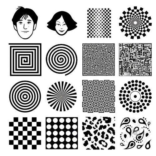 черно белые картинки для детей