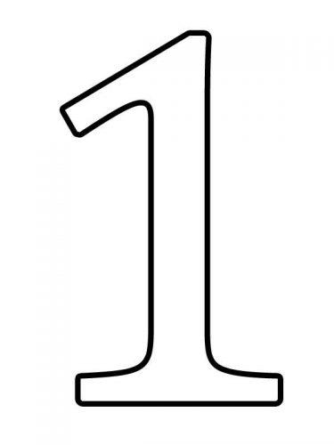 раскраска цифра 1
