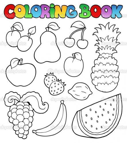 раскраски овощи и фрукты