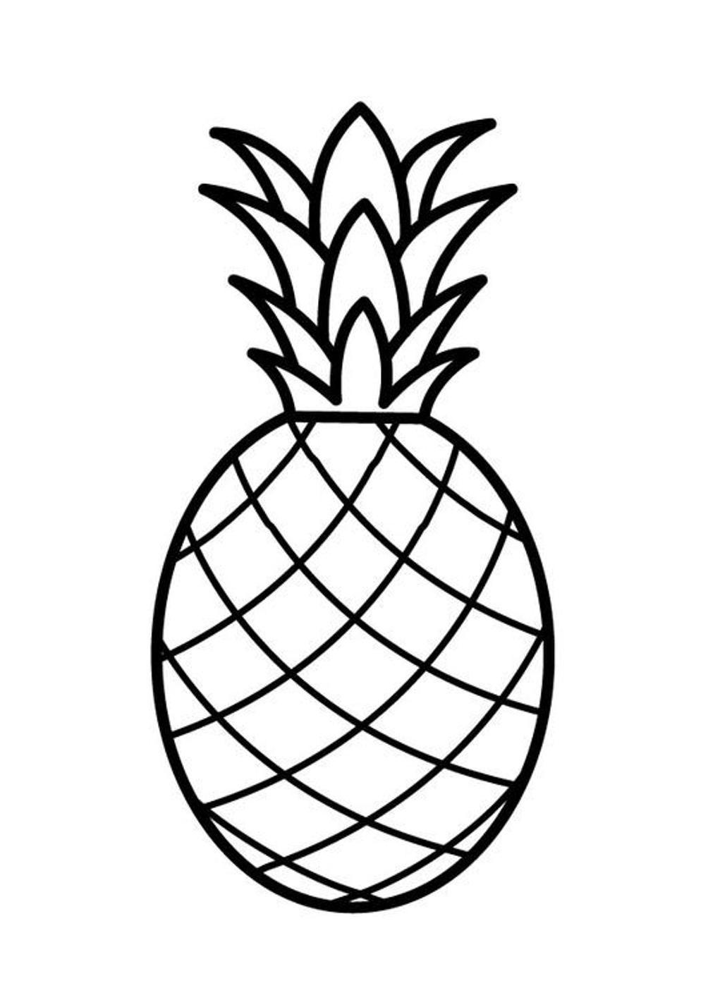 Картинки раскраска ананас