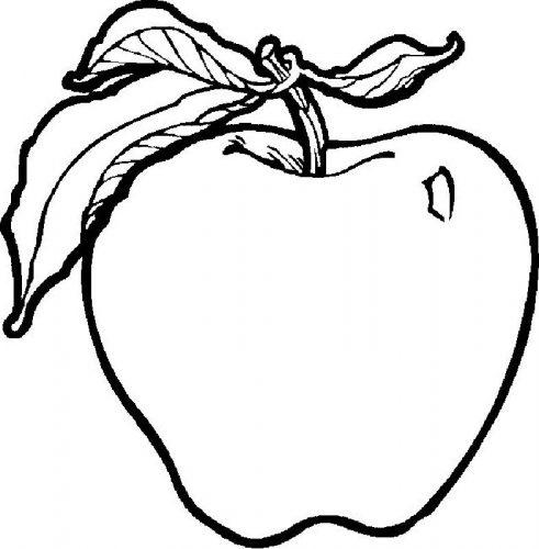 яблоко раскраска
