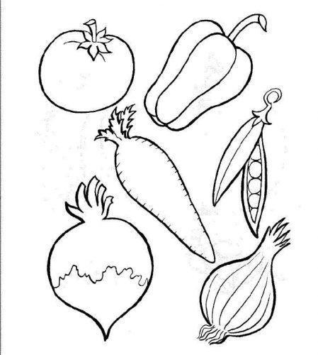 картинки раскраски овощи