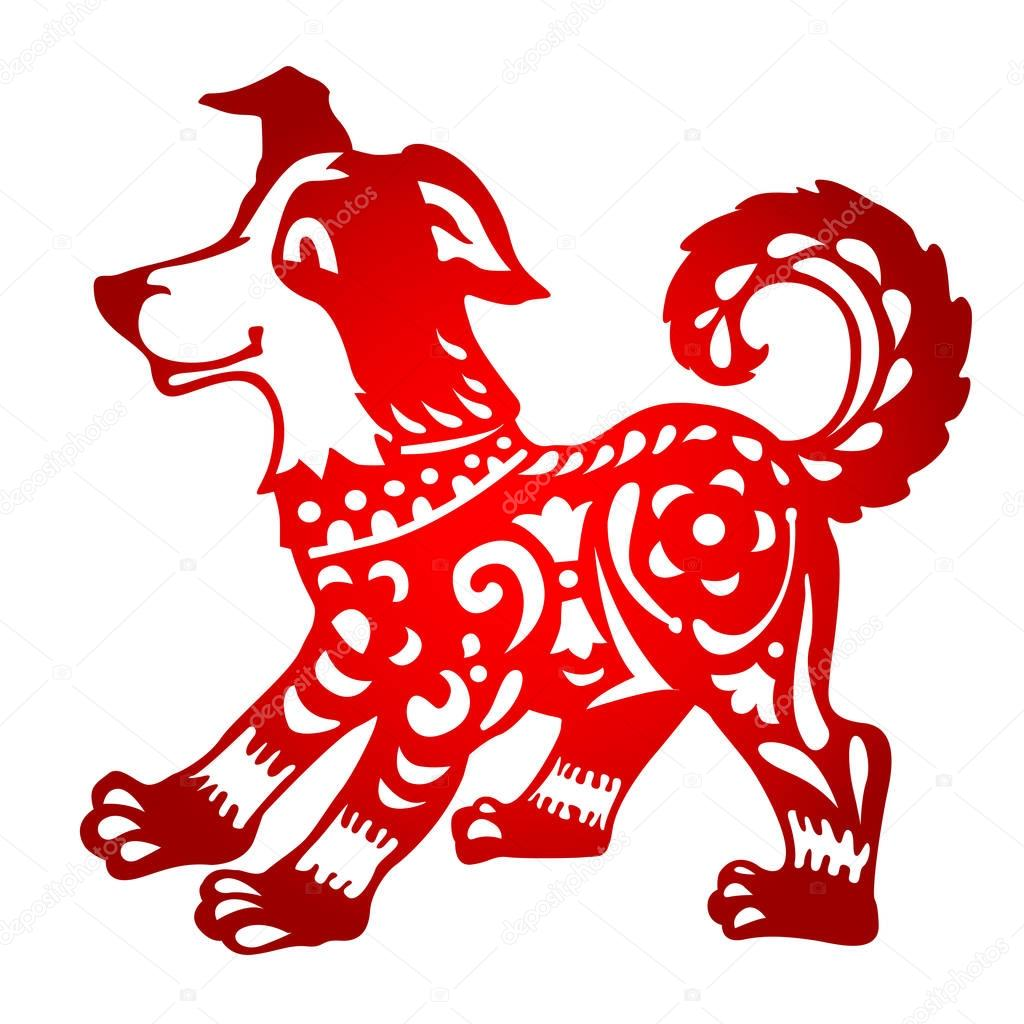 новый год собаки 2018 вытынанка