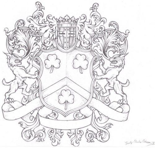 герб семьи шаблоны