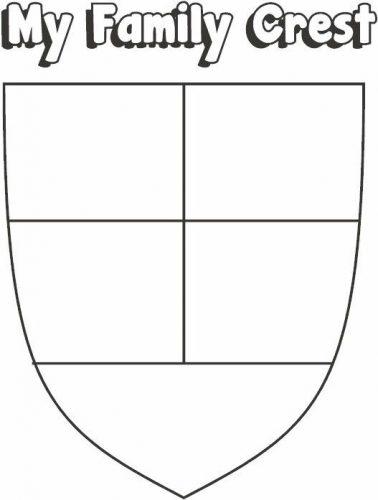 герб семьи шаблон