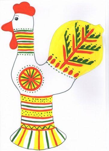 филимоновская игрушка раскраска петушка