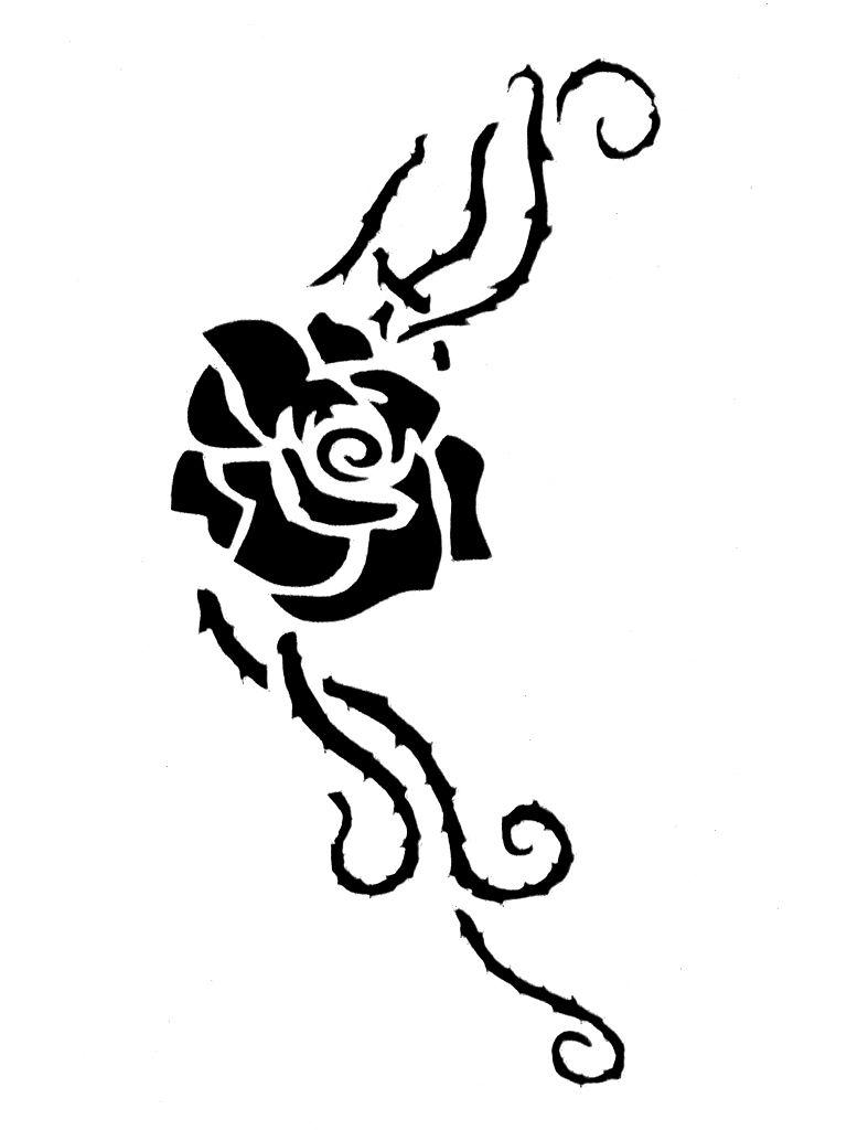 Как сделать трафарет розы своими руками 31