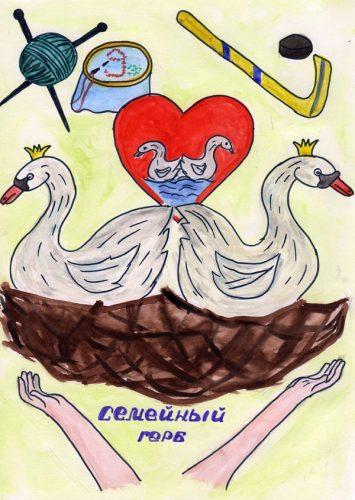 гербы семей рисунки
