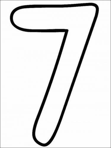раскраска цифра 7