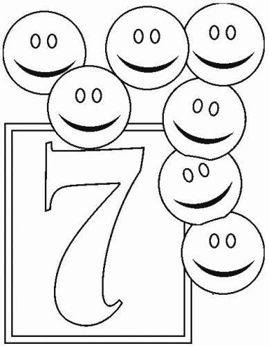 цифра семь раскраска