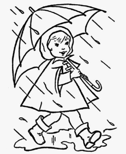 дождь раскраска