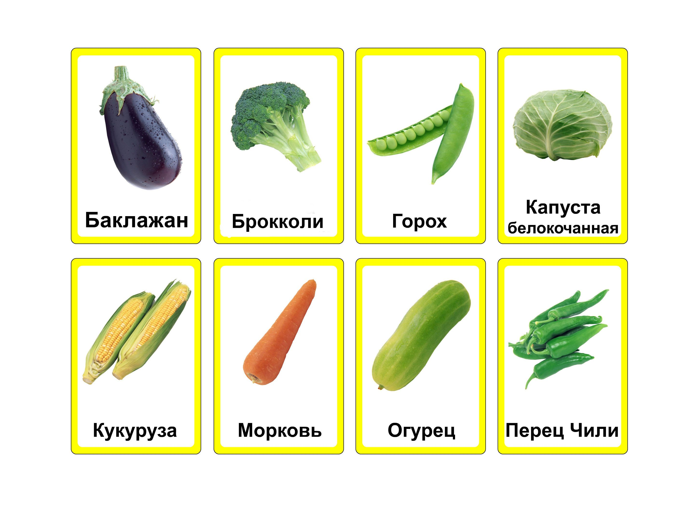 Овощи картинки с названиями для детей