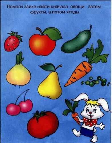 овощи картинки для детей нарисованные