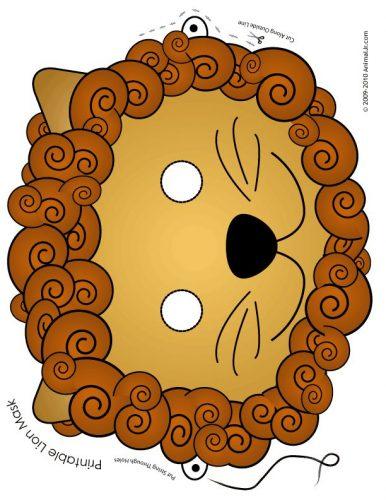 картинки маски животных для детей