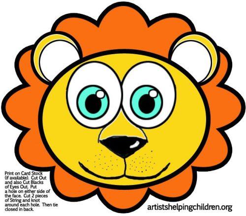 шаблоны масок животных для детей