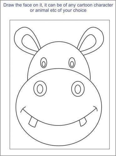 раскраски маски животных