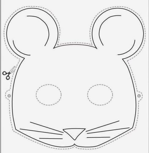 маски животных из бумаги шаблоны