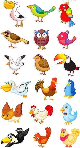 мультяшные картинки птиц для детей
