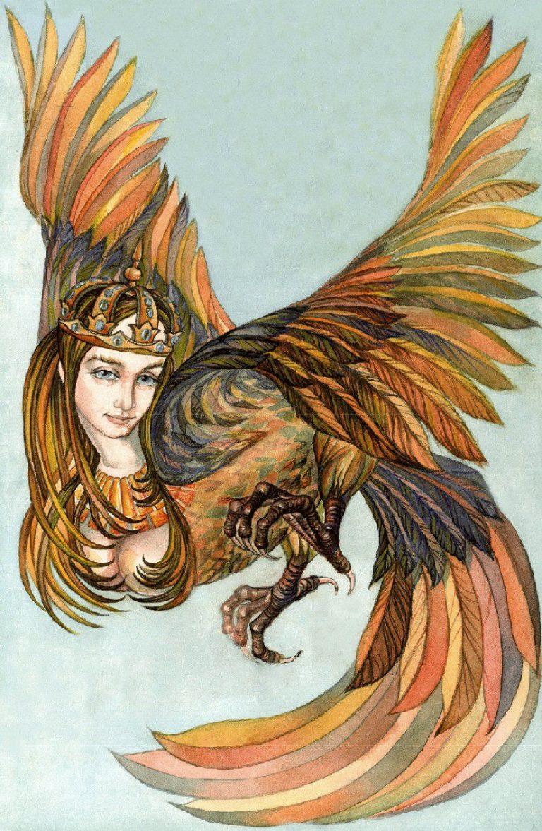 Сирин птица картинки