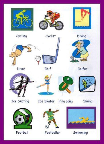 картинки на тему спорт нарисованные