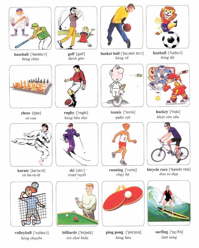 меня картинки виды спорта для английского хочется этот праздник