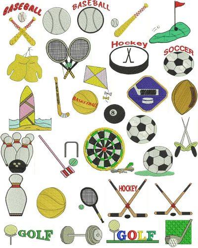 спорт предметы картинки