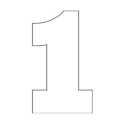 трафарет цифры 1
