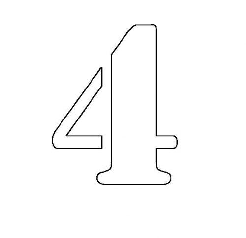 трафарет цифры 4