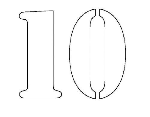 трафарет цифры 10