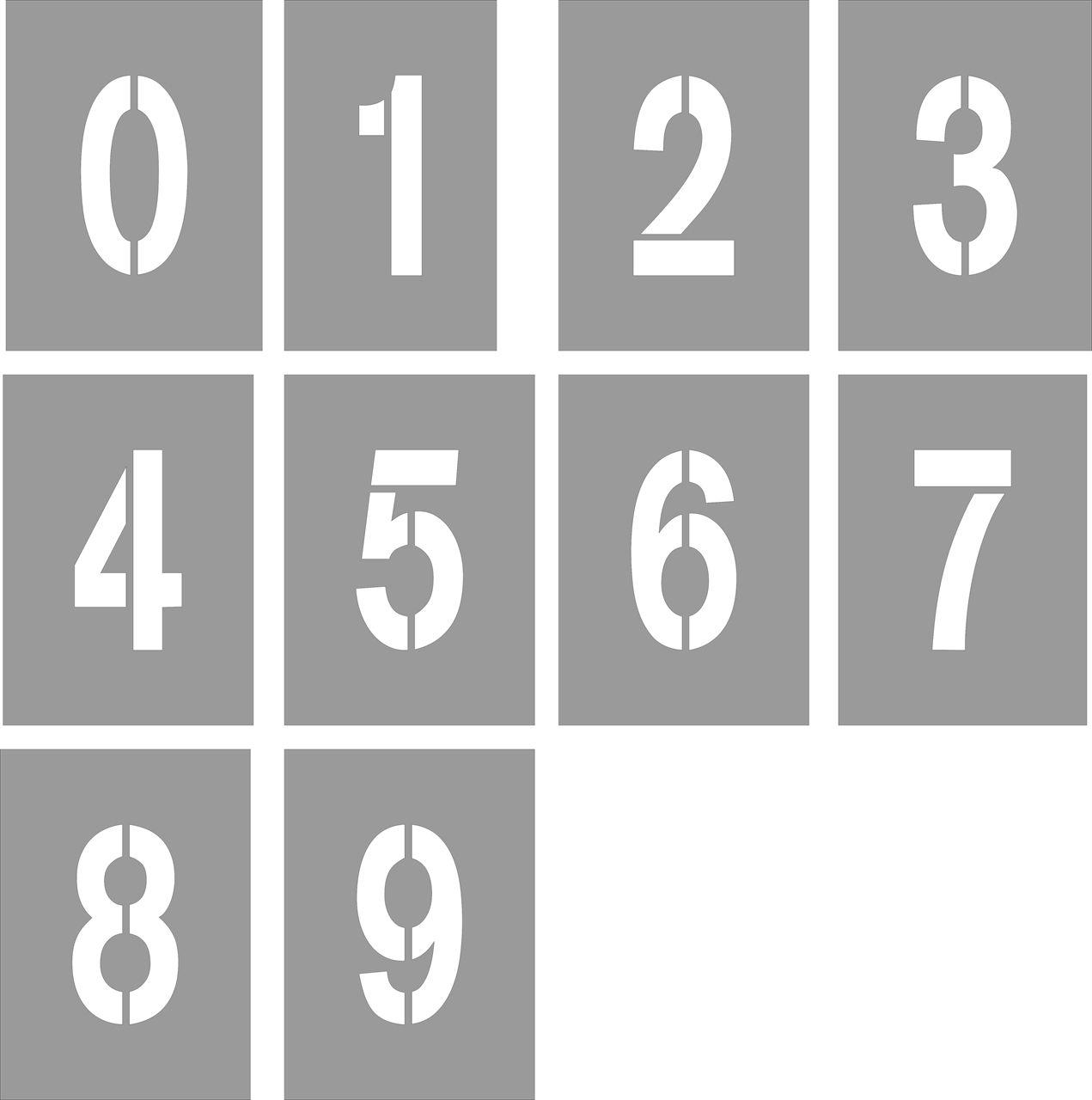 Шаблоны цифр для фото